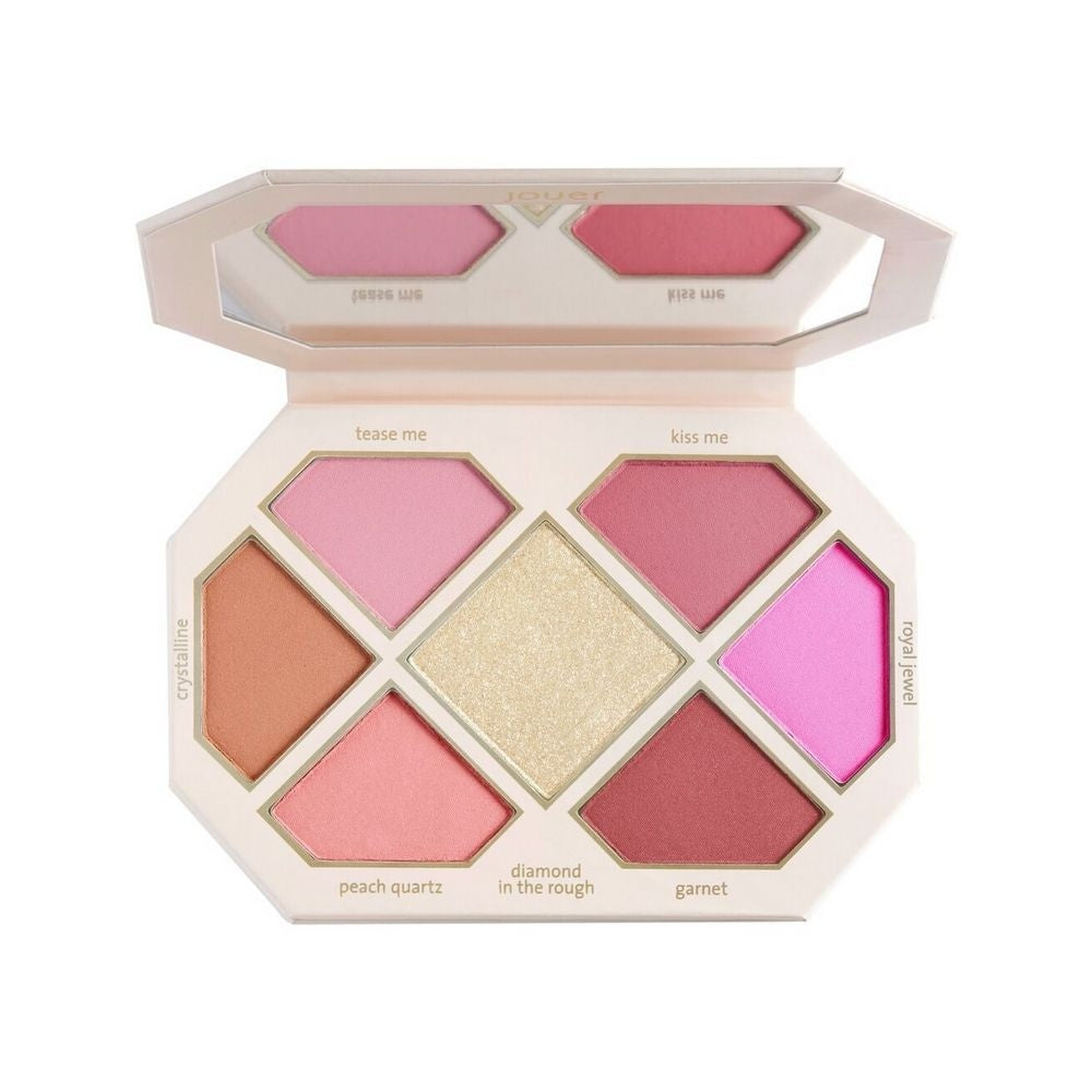 Jouer Rose Cut Gems Blush & Cheek Topper Palette | HODIVA LUX