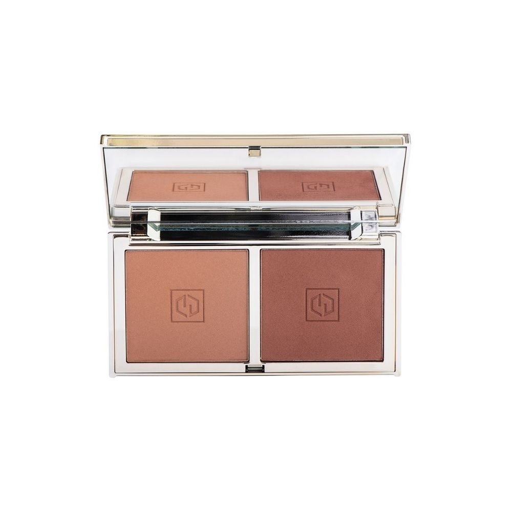 Jouer Sunswept Bronzer Duo Palette Deep to Dark | HODIVA LUX