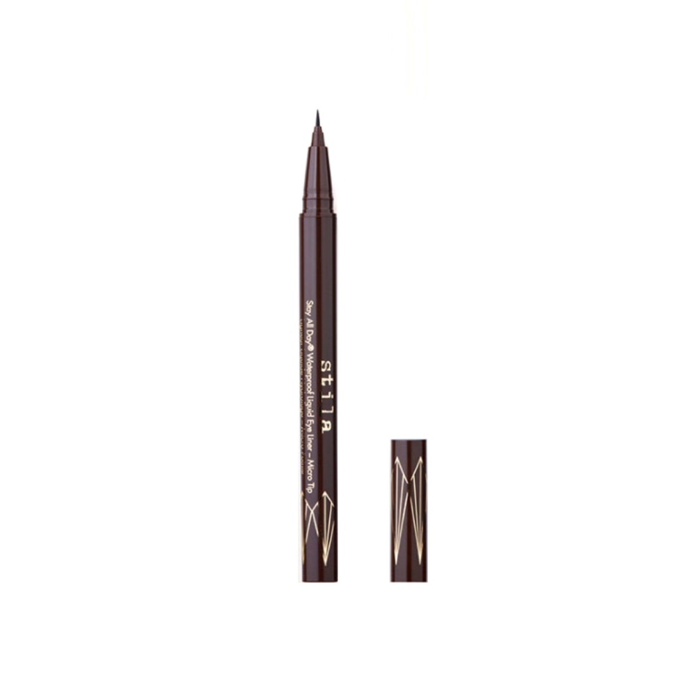 Stila Stay All Day Waterproof Liquid Eye Liner Micro Tip Dark Brown | HODIVA LUX