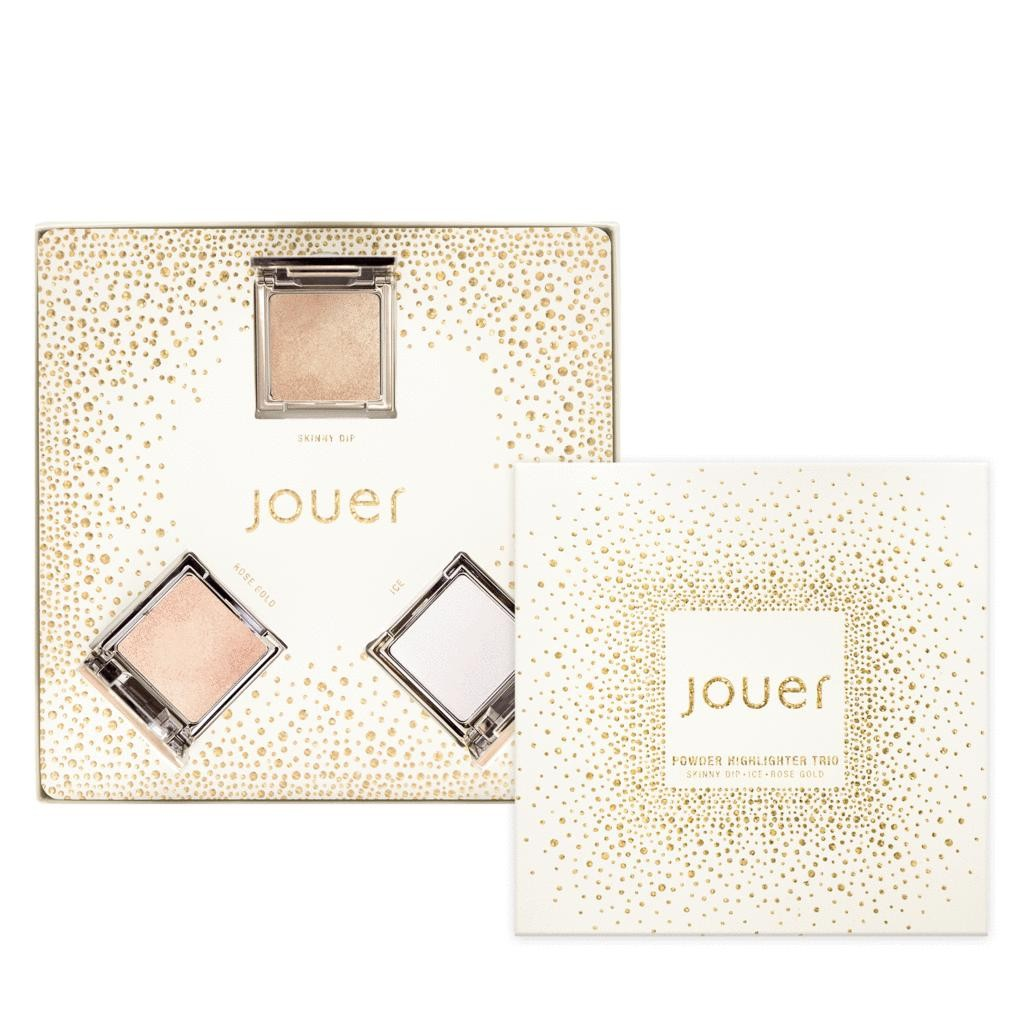 Jouer Powder Highlighter Trio - Skinny Dip, Ice, Rose Gold | HODIVA LUX