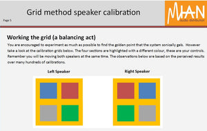Grid Method Speaker Calibration