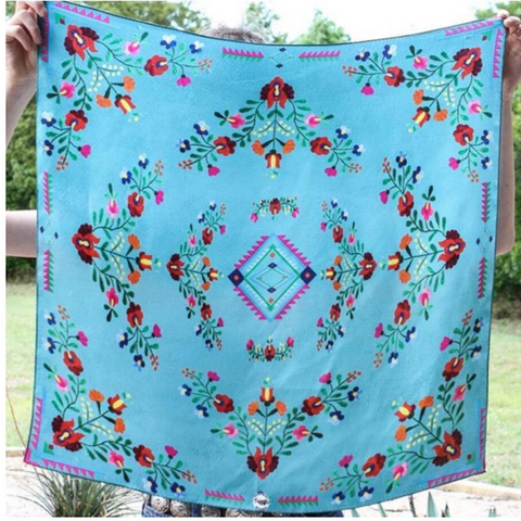 Fiesta Turquoise by Fringe Scarves