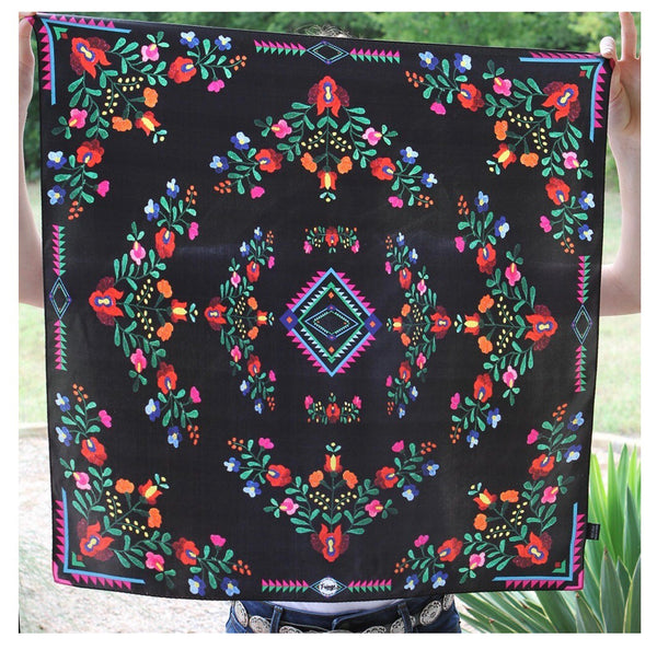 Fiesta Black by Fringe Scarves