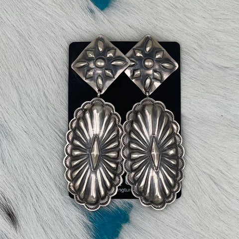 Sterling Silver Oval Conchos