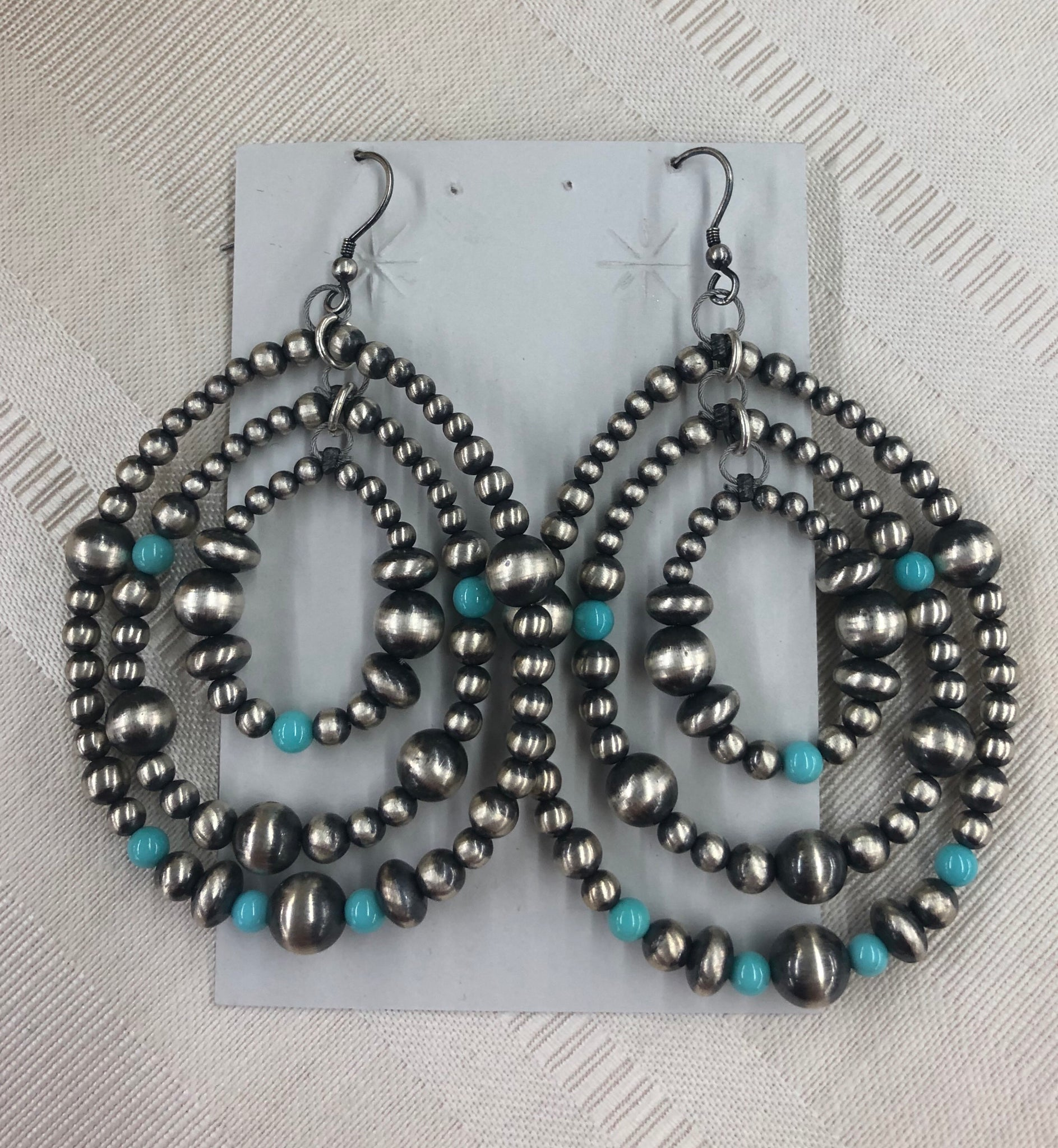 Turquoise and Navajo Pearl Earrings