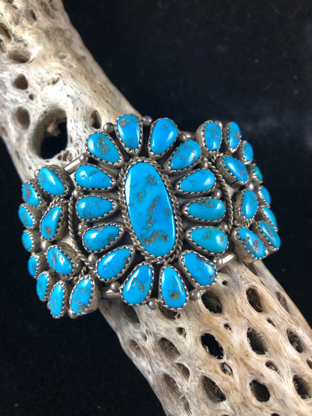 JMW Old Pawn Turquoise Cluster Bracelet