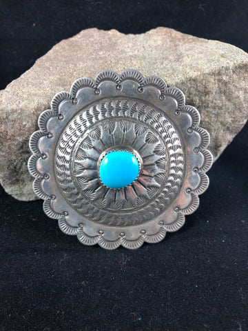 Native American jewelry concho pin