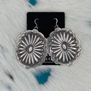 Large Concho Earrings