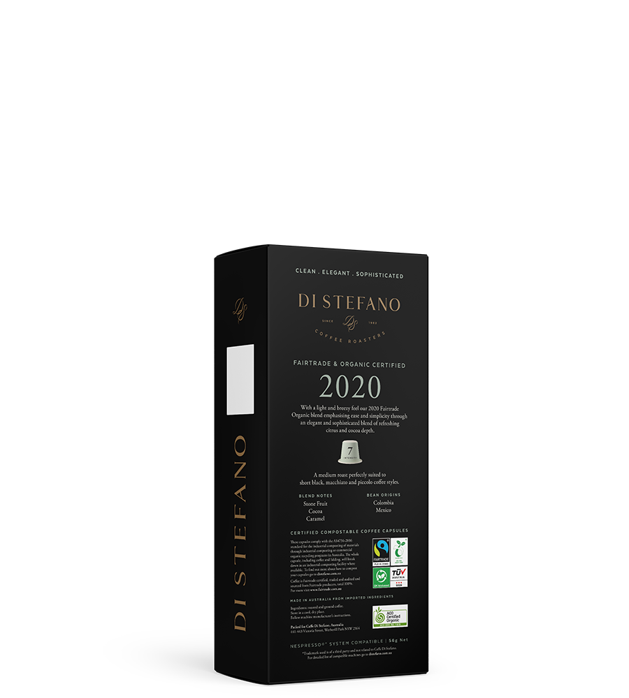 2020 NESPRESSO® compatible sustainable fairtrade organic capsules back