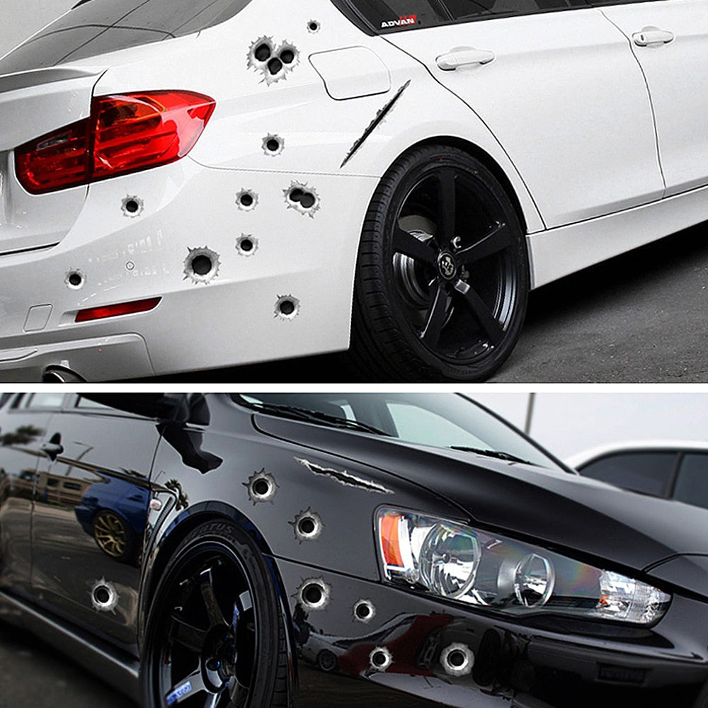 Custom Gunshot/Gash Car Sticker Kit - Japanese Mark