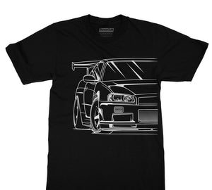 Nissan Skyline R34 Graphic T-Shirt - Japanese Mark