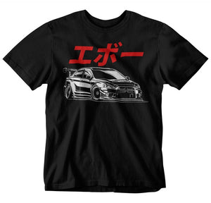 Mitsubishi Lancer Evo Graphic T-Shirt - Japanese Mark