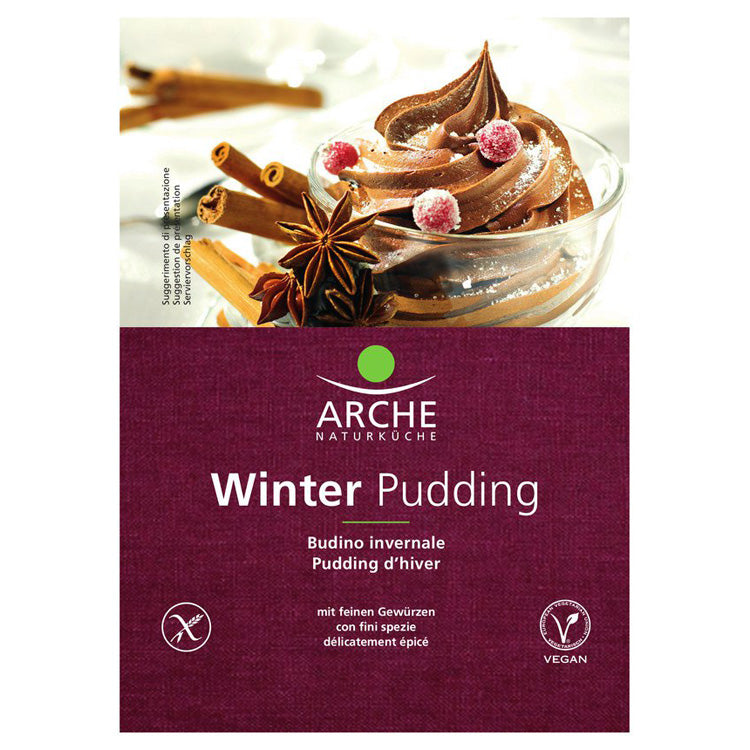 Arche Winter Pudding glutenfrei vegan Weihnachten Advent