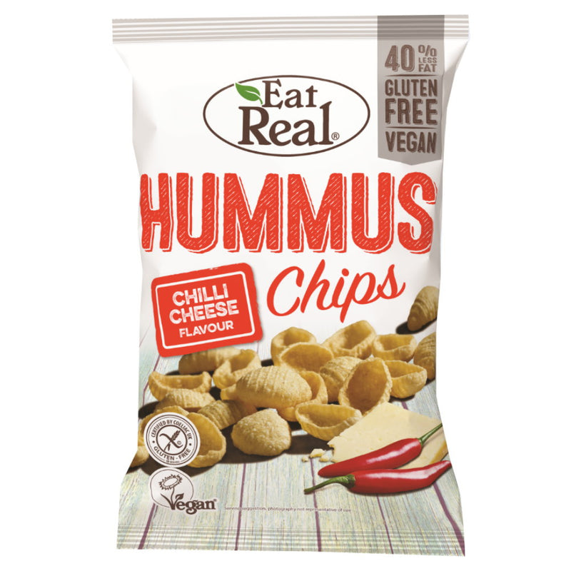 Eat Real Hummus Chips Chili Käse Cheese glutenfrei vegan Zöliakie