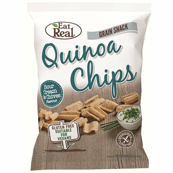 Eat Real Quinoa Chips Sour Cream Schnittlauch glutenfrei weizenfrei