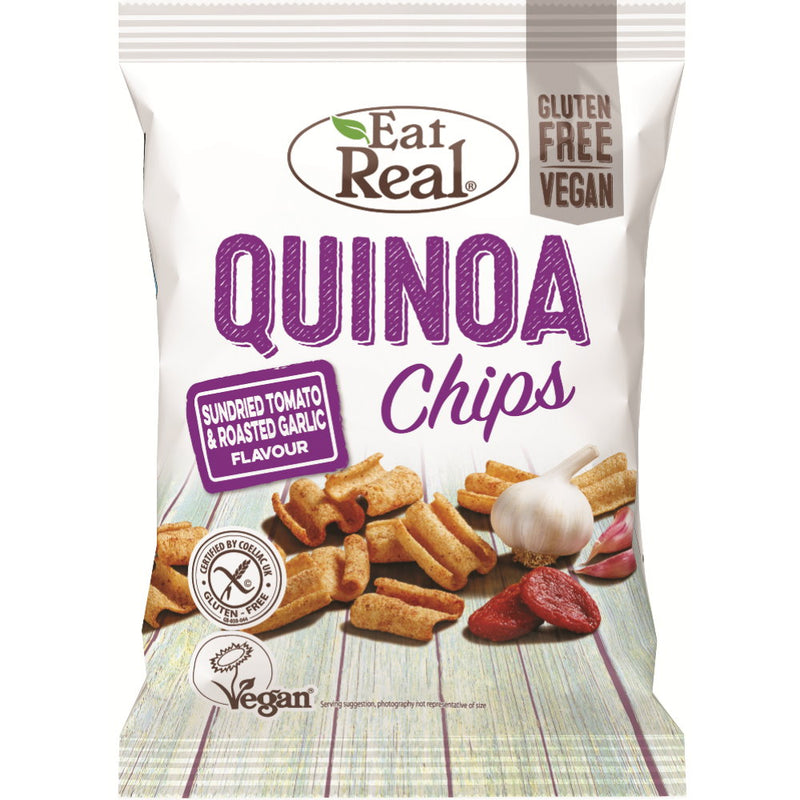Eat Real Quinoa Chips Tomate Knoblauch glutenfrei vegan Zöliakie