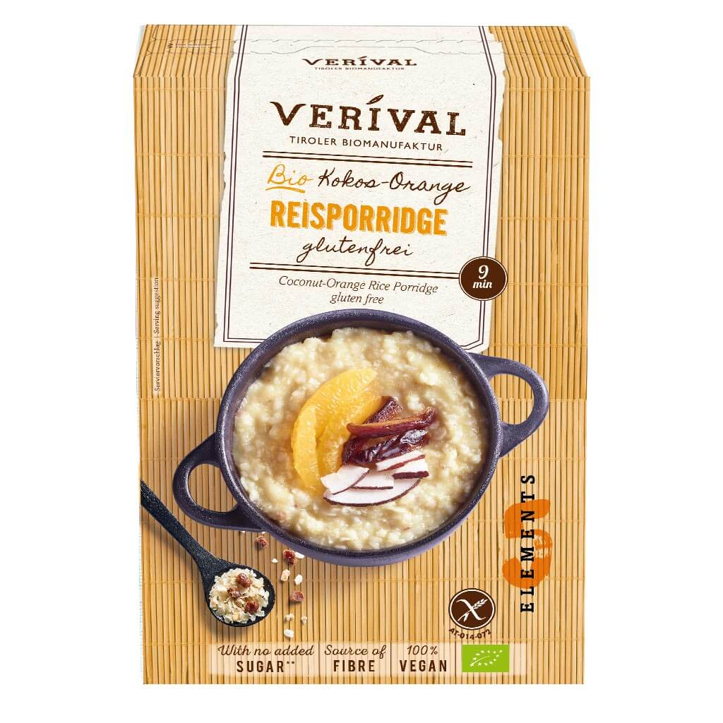 Verival Kokos Orange Reisporridge Bio glutenfrei 5 Elements