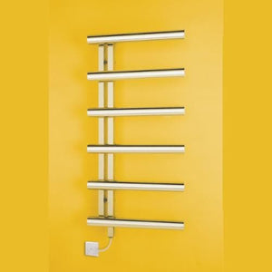Bisque Chime Electric Towel Rail - Left Hand Tubes
