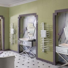Load image into Gallery viewer, Bisque Orbit Electric Towel Rail