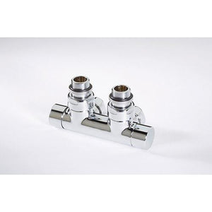 Twin Valve Angled manual 15mm Chrome