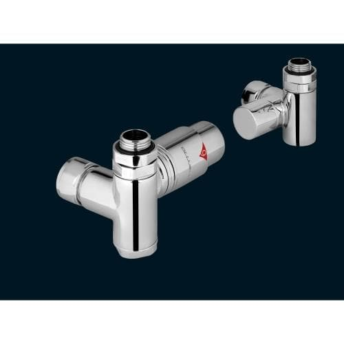 Zehnder Thermostatic Dual Fuel Valve Set 21 Chrome
