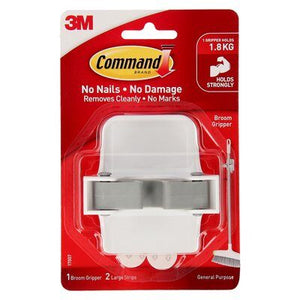 Command™ Broom Gripper White 1pk- 17007