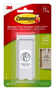 Command™ Large Canvas Hanger White 1pk - 17044