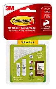 Command™ Small & Medium Picture Hanging Strips Value Pack White 12pk - 17203