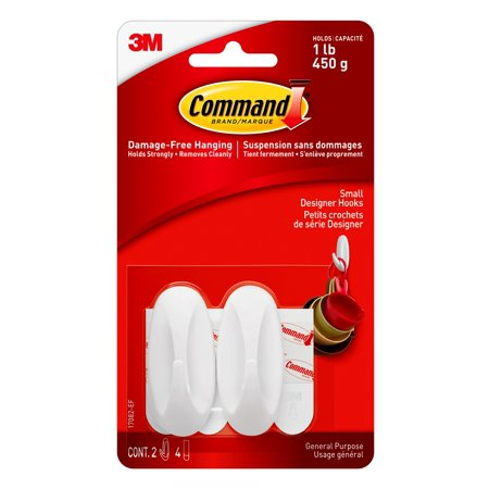 Command™ Small Oval Hooks White - 17082