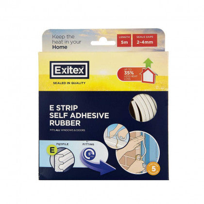 E Strip Self Adhesive Draught Excluder White