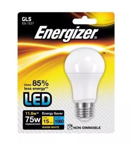 Energizer LED Gls ES/E27 Warm White 11.6w