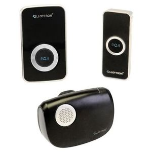 Lloytron B7506BK Twin Wireless Plug-In Door Bell Chimes