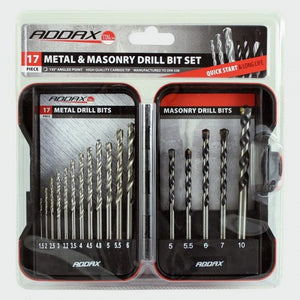 Addax HSS Jobber and Masonry Set 17pc