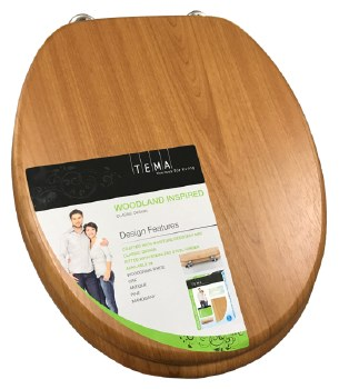 Tema Woodland Oak Toilet Seat