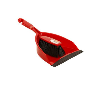 Dosco Dust Pan & Brush Red