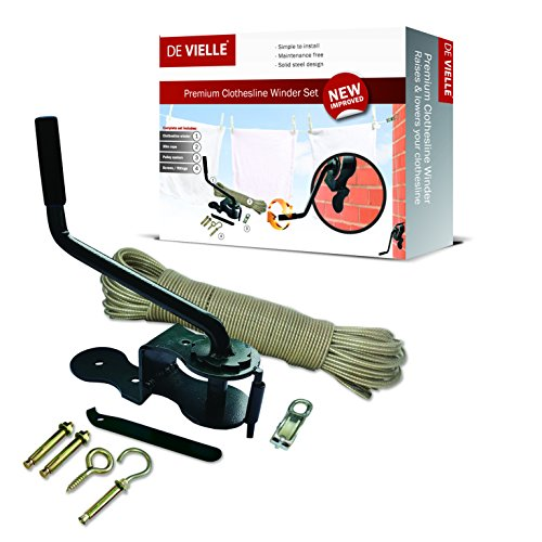 De Vielle Clothesline Winder 30m Set