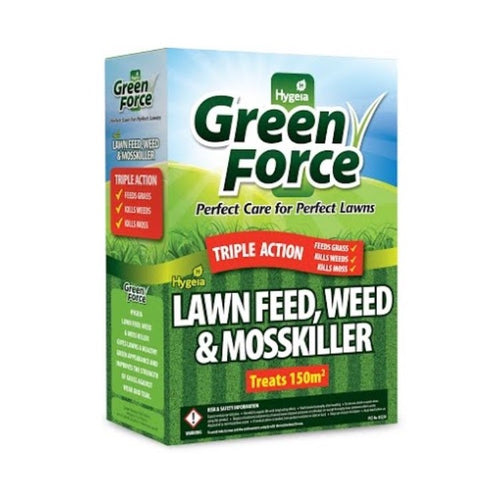Hygeia Green Force Lawn Feed, Weed & Mosskiller - 3kg