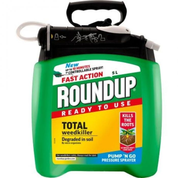 Roundup Fast Action Pump N' Go Weedkiller 5 Litre