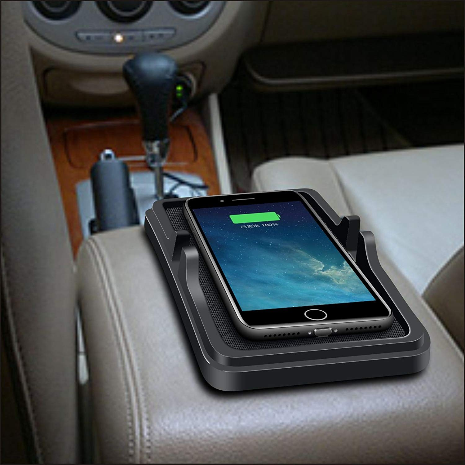 Universal Wireless Car Charging Slip Pad