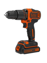 Load image into Gallery viewer, Black & Decker 18V Hammer Drill, 2x Batteries, Organiser Case & 160 Accessories