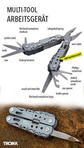 TROIKA 10 FUNCTION MULTI TOOL