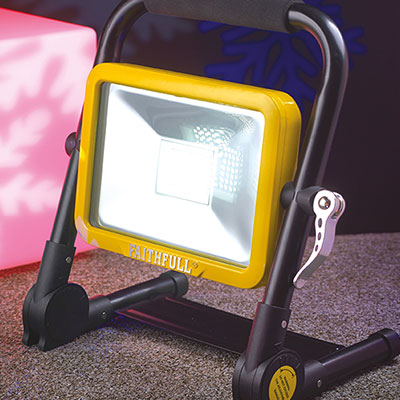 Faithfull 20W LED Rechargeable Folding Worklight
