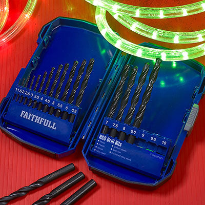 Faithfull 19 Piece HSS Drill Bit Set