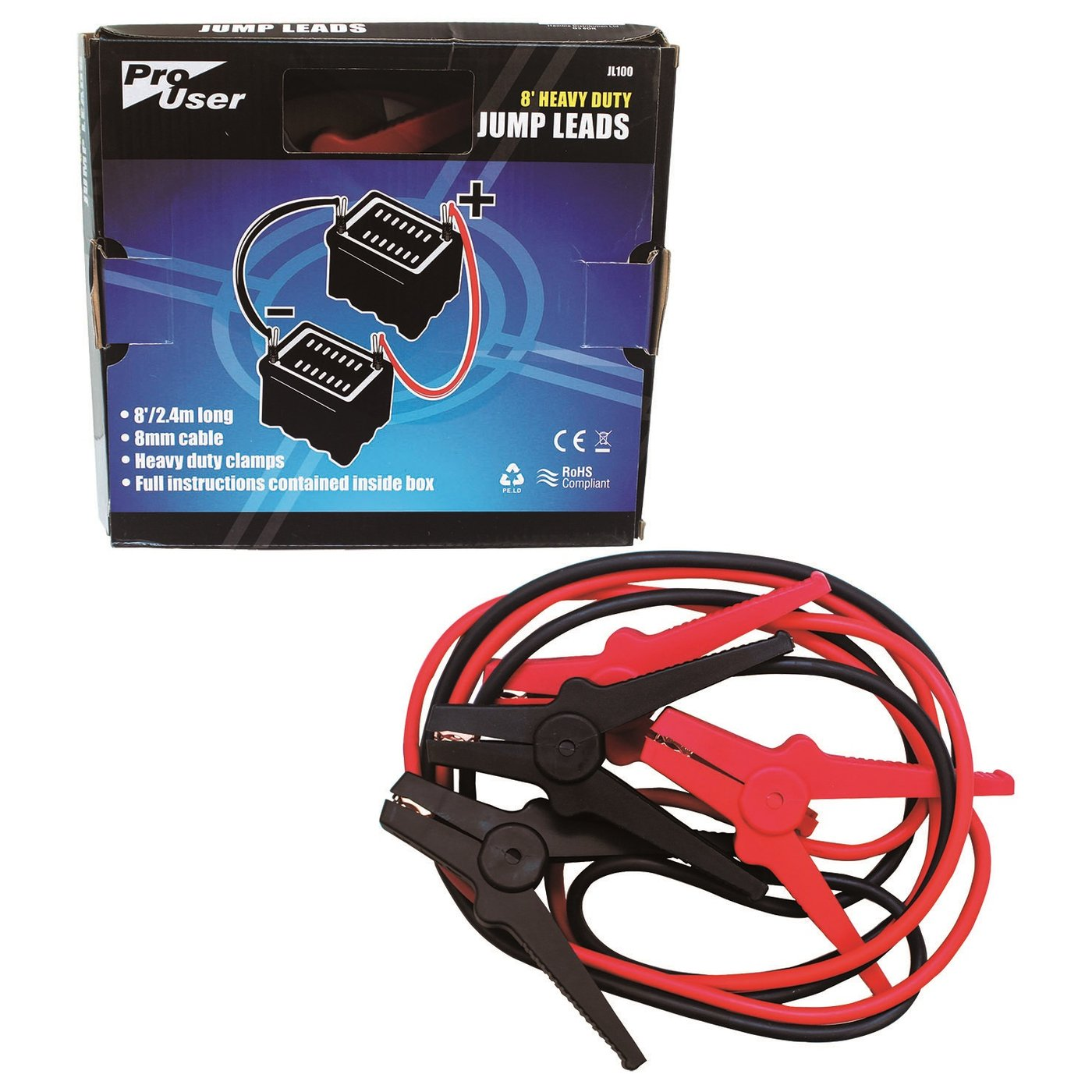 ProUser 8' Heavy Duty Jump Lead