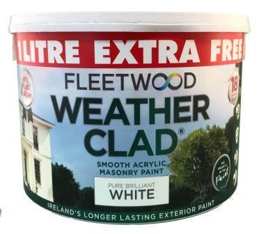Fleetwood Weatherclad Exterior Paint (Brilliant White) 10 Liters