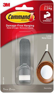 Command™ Large Metal Hook MR13-SSW, 1/Pack