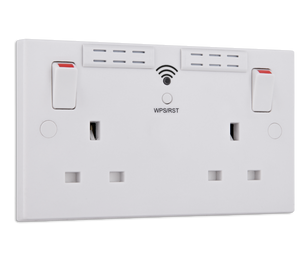 Wi-Fi Twin Wall Socket + 2 USB Ports