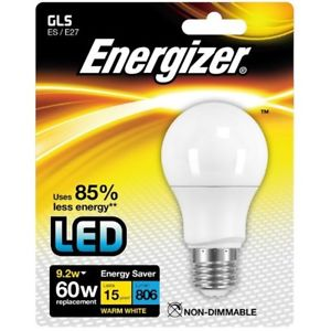 Energizer E27 Warm White Blister Pack Gls, 9.2w