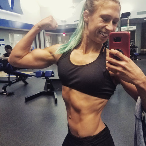 Katya flexing 6 weeks out