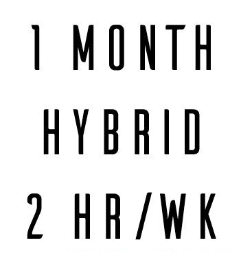 1 Month Hybrid In Person + Online Coaching